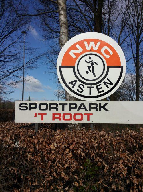 bord ingang sportpark