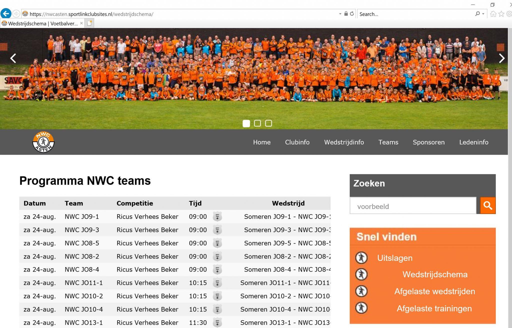 NWC website via een andere (tijdelijke) link URL bereikbaar