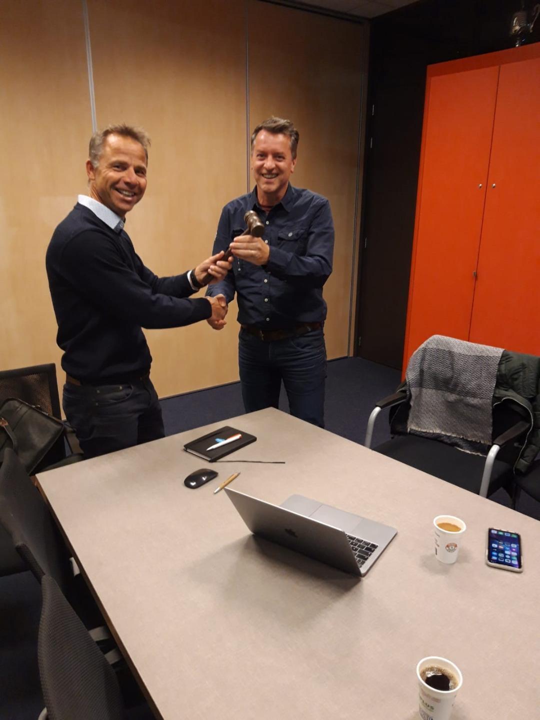 Edwin van Erp volgt Bas Adriaans op als voorzitter Jeugdbestuur