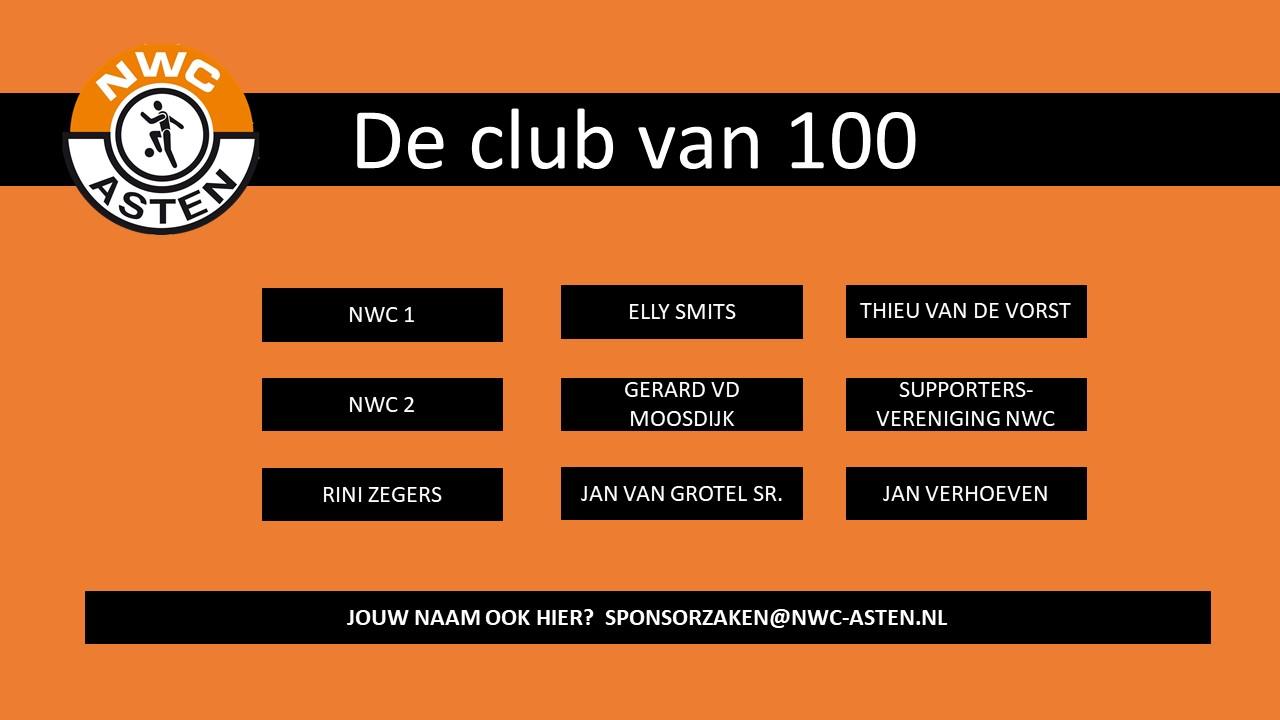 Leden club van 100 NWC Asten