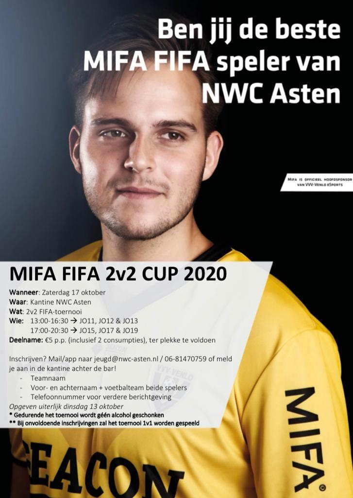UITGESTELD: de MIFA - FIFA Cup 2v2 Cup 2020 bij NWC!