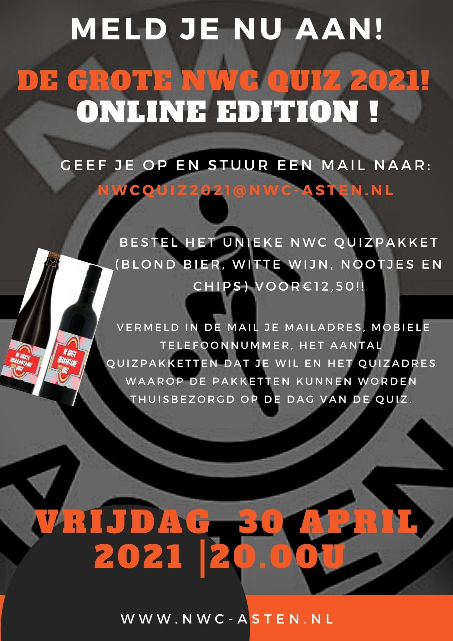 30 April De Grote NWC Quiz Online !
