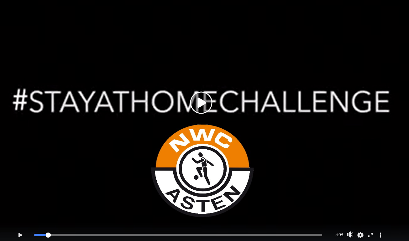 Filmpjes ook hier op website te bekijken van #StayAtHomeChallenge JO15-1 en Vrouwen 2/3